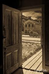 Inside Out (HarryMiller002) Tags: door bannackghosttown bannackstatepark bannack ghosttown montana sepia