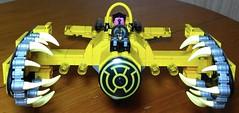 The Yellow Baron! - front (Heavy Metal Rapping Machine) Tags: dc moc mod lego sinestro greenlantern