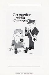 Northern Ireland vs Sweden - 1975 - Back Cover Page (The Sky Strikers) Tags: northern ireland sweden the european championship windsor park programme 20p
