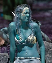 Aquamarine Mermaid (Scott 97006) Tags: mermaid costume color woman female lady beauty outfit