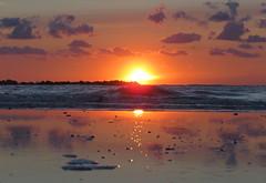 IMG_0022x (gzammarchi) Tags: italia paesaggio natura mare ravenna lidoadriano alba sole riflesso