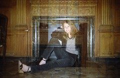 Self Portrait in Loew's Jersey City Men's Room (Meredith Jacobson Marciano) Tags: doubleexposure 35mm