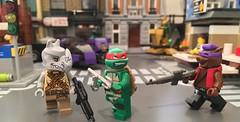 A Rock and a Hog Place (Hobbestimus) Tags: lego tmnt teenagemutant ninjaturtles raphael bebop rocksteady shredder krang toys 80s cartoon minifigure
