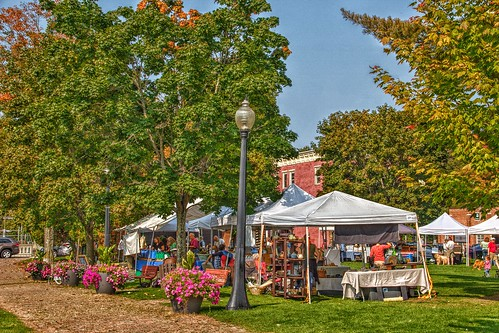 Saranac Lake  - New York -  Saturdays Farmers Market -  Riverside Park