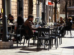 dehors (fotomie2009) Tags: roma pigneto caffè dehors tavoli tavolini sedie people spring lazio italy italia bar