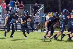 """PVHS v. Palatka-303 (mark.calvin33) Tags: football field sport ball """"high school"""" """"ponte vedra high pvhs block tackle rush run pass catch receiver blocker """"running quarterback fumble completion reception hike pitch snap """"friday night lights"""" fans stands kick """"end zone"""" """"nikon 2018 win athletics athletes """"night photography"""" """"sharks football"""" back d7100"""