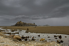 Fogarty Beach, Oregon (Bonnie Moreland (free images)) Tags: oregon storm clouds beach ocean coast shore sand rocks fogarty creek