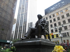 Horace Greeley Statue in Greeley Square Park NYC 9997 (Brechtbug) Tags: horace greeley seated statue 02031811 11291872 american editor leading newspaper founder republican party reformer politician his new york tribune was most influential from 1840 1870 besides having creepy neck beard used it promote whig parties square park manhattan near macys herald midtown nyc 2018 city 09032018