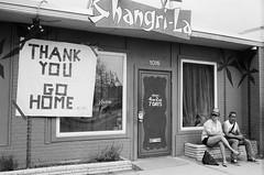 THANK YOU GO HOME 2018 (-Dons) Tags: austin shangrila texas unitedstates bars film tx usa thankyou gohome bar door sxsw sxsw2018 people 1016 sign