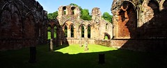 Chapter house interior panoramic (eucharisto deo) Tags: furness abbey lakes lake lakes18 district cumbria lancashire monastery monastic ruins ruin dissolution henry viii cistercian chapter house panoramic ach