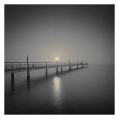 Broken Lights (Vesa Pihanurmi) Tags: pier light dark dusk seascape character figure lisbon lisboa portugal lantern