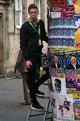 Stepping Up to the Column (MalB) Tags: edinburgh fringe festival scotland pentax k5 royalmile