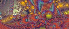 JLF1414 Down as Above (jlfractal) Tags: exploradorff fractal fractalart julofi red yellow multicolour spirals texture