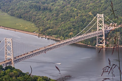 "Bear Mountain Bridge Over the Hudson River (Herculeus.) Tags: ""meanderingriver"" traffic outdoors outdoor outside landscape ""hudsonvalley"" usa ny bridge bridges ""hudsonriver"" river water 5photosaday"