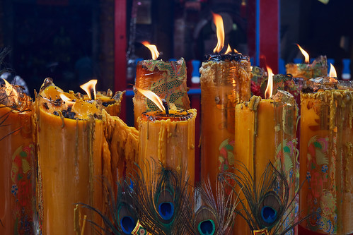 Bangkok – Temple candles