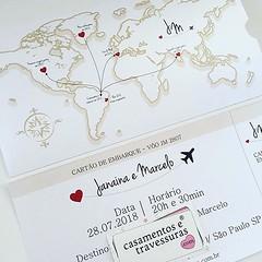 #tbt do convite da Janaina, que ama viajar com o Marcelo! 📍convite 12D 📍de SP para todo o Brasil 🎁casamentosetravessuras.com #casamentosetravessuras #convitedecasamento #temaviajem #noivosqueamamviajar (casamentosetravessuras) Tags: instagram facebookpost lembrancinhas personalizadas