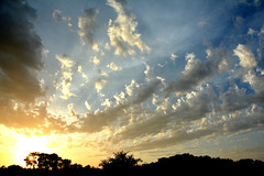 Party Sky (NaturalLight) Tags: sunset clouds party sky chisholmcreekpark wichita kansas