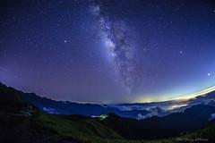 星空_DSC5950N (何鳳娟) Tags: 夜景 風景 山岳 雲害 銀河 車軌 合歡山 合歡主峰 合歡山主峰登山步道 海拔3417公尺