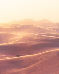"""Faded Sands"" (Foto Fresh) Tags: california deathvalley mesquiteflat sanddunes cropped sand light sundown highkey contrast layers separation sandstorm flat splittoned sony a7r3 a7riii fullframe femount"