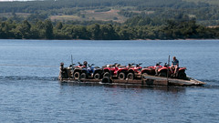 Delivery (Deborah S-C -In The Fairy Garden-Temp off!) Tags: lochlomond summer summertime tractors minitractors delivery loch
