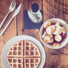 Got to have a proper birthday breakfast 😋 thank you @gabsfroud xxx #waffles #maplesyrup #breakfast #fruit #rusticdecor (ben.dixon) Tags: ifttt instagram