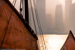 Sails and Rigging, Hong Kong (Pexpix) Tags: haze canvas skyscraper reflection sunset traditional rigging water mast buildings boat boats sailingboat harbour sea hongkong kowloon hk