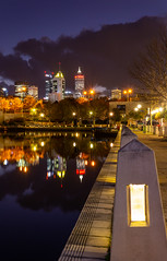 Leading to the City (Jared Beaney) Tags: canon6d canon australia australian photography photographer travel perth night bluehour eastperth reflections reflection leadinglines cityscapes city