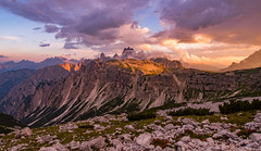 Sunset in the Dolomites (19MilkyWay89) Tags: landscape dolomites sunset sky clouds mountains evening light himmel sonnenuntergang licht