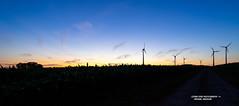 Muensterland before dark (Michael Heichler) Tags: sunset muensterland münsterland ahaus germany muenster münster alpha 7 windräder green power windmill