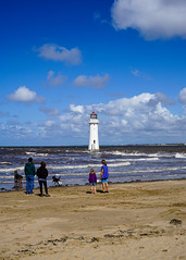 New Brighton lighthouse (p.mathias) Tags: wirral liverpool lighthouse england uk unitedkingdom europe sea ocean water beach family dogs sand waves wave newbrighton river merseyside mersey sony a5100