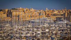 The Grand Harbour, Valetta (Ula P) Tags: boats harbour marina malta valetta sky oldtown sony sonyalpha blue water