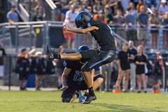 """PVHS v. Palatka-191 (mark.calvin33) Tags: football field sport ball """"high school"""" """"ponte vedra high pvhs block tackle rush run pass catch receiver blocker """"running quarterback fumble completion reception hike pitch snap """"friday night lights"""" fans stands kick """"end zone"""" """"nikon 2018 win athletics athletes """"night photography"""" """"sharks football"""" back d7100"""