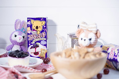 Bangkok, Thailand - Aug 25, 2018 : A photo of Koala March snack bow packaging in blueberry cheesecake flavour. Right top copy space is for your text. Koala March is product of Lotte Japan. (enchanted.fairy) Tags: baked biscuit biscuits blueberry box brand cake candy cheesecake chocolate color cookie cookies cover cream cute delicious dessert edition editorial filling funny green grocery happy healthy homemade illustrative image japamkawaii japan kawaii kids koala koalas label limited lotte march package pastry quick snack sweet tasty thailand traditional treat white