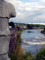 Carved Pillar (the justified sinner) Tags: justifiedsinner carved face river water dumfries galloway panasonic minolta rokkorx 45 2 md gx7 stone carving