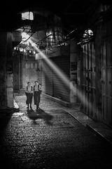 Little Rays of Hope (stephen cosh) Tags: blackwhite candid israel jerusalem leica50mmaposummicron leicamtype240 lightshaft stephencosh street streetphotography