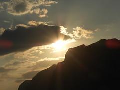 Sunrise over Stravros, Crete (caffeine_obsessed) Tags: crete greece island aegean mediterranean sea ocean sunrise sun dawn stavros chania coast beach mountain