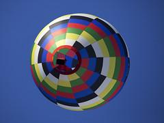 Balloon from below (gdelargy) Tags: canonef70200mmf28lisiiusm strathavenhotairballoonfestival circle rainbow swirl