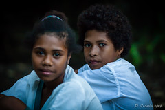 Schoolgirls at the Waterfall 3233 (Ursula in Aus - Travelling) Tags: jimclinephototour milnebay png papuanewguinea tawali