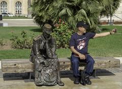 Self Portrait in Cartagena, Spain (Solojoe) Tags: selfi selfportrait statue twomen cartagenaspain spain cartagena