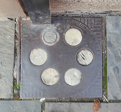 Hayward's Coal Hole Cover, Broad Street, Blaenavon, Pontypool 29 August 2018 (Cold War Warrior) Tags: coal hole hayward's iron blaenavon pontypool accesscover