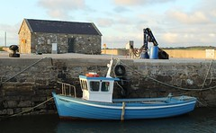 Small wooden boat moored at Raghly Harbour (flxnn) Tags: boat boats harbour harbor marine atlantic coast ocean ireland blue outdoor amateur beauty color europe evening explore travel water moor mooring