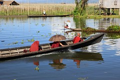 Monks_15 (DepictingPhotos) Tags: asia boats burma inlelake lakes monks reflections transport