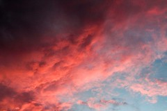 Sunsets (katyearley) Tags: t6 rebel canon nature texas fluffy clouds blue red pink sunset