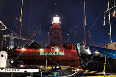 City harbour Den Helder (1) (pe0s, Steven) Tags: denhelder willemsoord night harbour haven port lightship ship vuurtoren lighthouse texel lichtschip schip stadshaven hdr