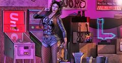 ♚ 614 ♚ (Luxury Dolls) Tags: purple pink colors blog blogger spirit thearcade gacha event badunicorn sau violin tmd new fashion style store sexy shot shape cute moonhair moon cat mutresse outfit feed girl work woman maitreya