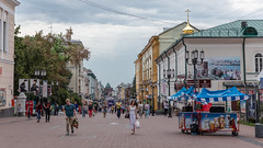 Nizhny Novgorod, Russia (Oleg.A) Tags: shadow nizhnynovgorod street water city outdoor evening town clouds exterior blue colorful orange autumn design architecture sky style russia rain people cloudy outdoors