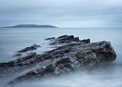 High Rock at High Tide. (cassidyduberry) Tags: sonya7iii morning leinster atmospheric cloud landscapephotography landscapes landscape photography a7iii sony 200mm rock longexposure dublin ireland bluehour sunrise coast sea