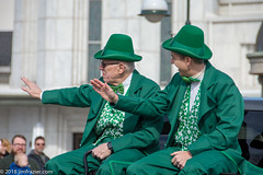 Two Leprechauns in their natural habitat, sitting in the back of a pickup (Jim Frazier) Tags: hats 2018 20180310stpatricksdayparadestcharles bluesky buildings business businessdistrict caption cityurban costumes district environmentalportrait festival float funny green humor irish jimfraziercom kane leprechaun mainstreet march parade party people q3 saintcharles spring stpatricksday stcharles street structures sunny tuxedos facebook f10 jfpblog