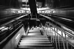 Hoch (Zesk MF) Tags: architecture steps stairs rolltreppe ubahn subway cologne zesk bw black white urban underground up x100f fuji