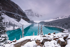 The beautiful Moraine Lake 3 of 3 D85_5044.jpg (Mobile Lynn) Tags: water rock snow moody landscape lake mountain forest landscapephotography outdoorphotography improvementdistrictno09 alberta canada ca coth coth5 ngc npc